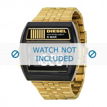 Diesel cinturino dell'orologio DZ7195 Acciaio inossidabile Oro 30mm