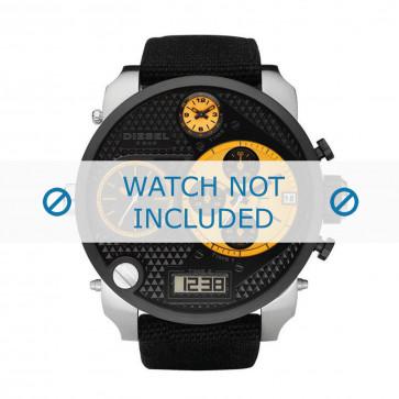 Diesel cinturino dell'orologio DZ7234 Tessuto Nero 28mm + cuciture nero