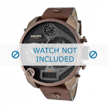 Diesel cinturino dell'orologio DZ7246 Pelle Marrone 28mm