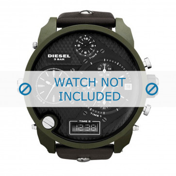 Diesel cinturino dell'orologio DZ7250 Pelle Nero 28mm