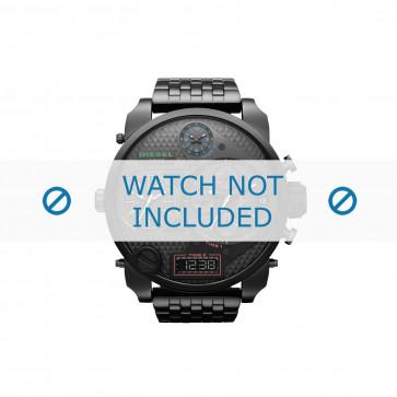 Diesel cinturino dell'orologio DZ7266 Metallo Nero 28mm