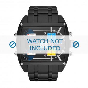 Diesel cinturino dell'orologio DZ7325 Acciaio inossidabile Nero 30mm
