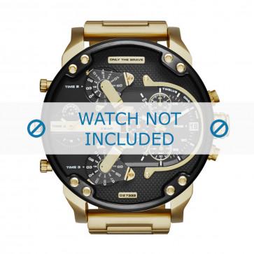 Diesel cinturino dell'orologio DZ7333 Metallo Oro 28mm