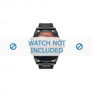 Diesel cinturino dell'orologio DZ7395 Metallo Nero 28mm