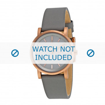 Cinturino per orologio DKNY NY2341 Pelle Grigio 18mm