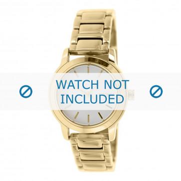 DKNY cinturino dell'orologio NY2343 Metallo Oro 18mm