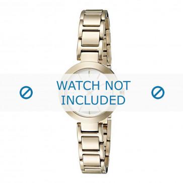 DKNY cinturino dell'orologio NY2399 Metallo Oro 18mm