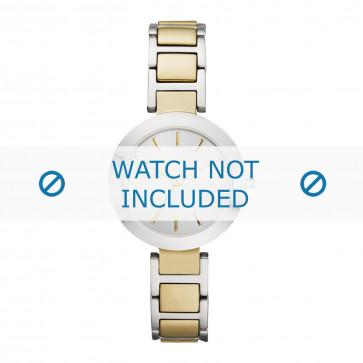 DKNY cinturino dell'orologio NY2401 Metallo Oro 12mm