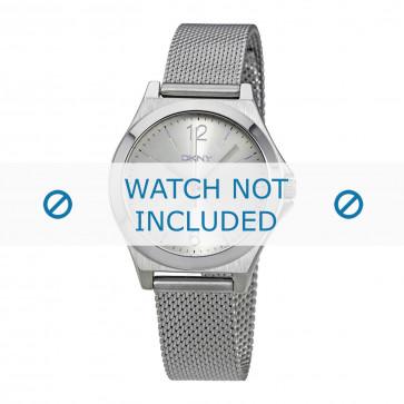 DKNY cinturino dell'orologio NY2488 Metallo Argento 8mm
