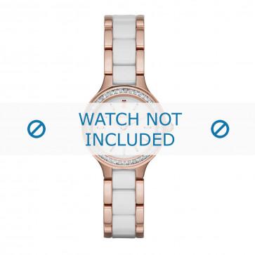 DKNY cinturino dell'orologio NY2496 Ceramica Bianco 8mm