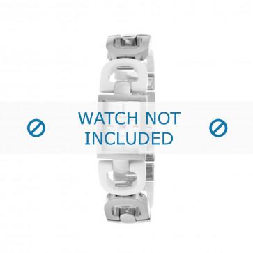 DKNY cinturino dell'orologio NY8545 Ceramica Argento 18mm