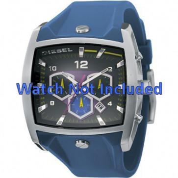 Diesel cinturino dell'orologio DZ4164 Silicone Blu 28mm