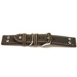 Cinturino per orologio Universale I392 Pelle Marrone 24mm