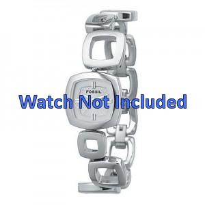 Fossil cinturino dell'orologio ES1869 / ES1884 / ES1964 Metallo Argento 15mm