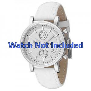 Cinturino per orologio Fossil ES2202 Pelle Bianco 18mm