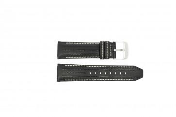 Festina cinturino dell'orologio F16489 / F16488 Pelle Nero 25mm + cuciture bianco