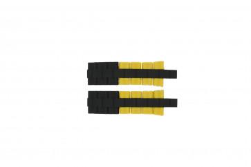 Cinturino per orologio Festina F16659/7 Acciaio/Silicone Giallo 24mm
