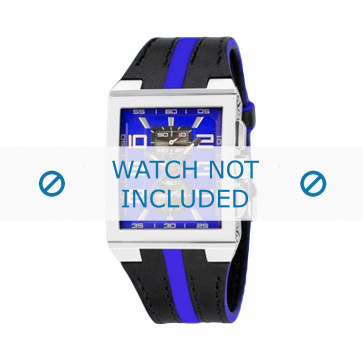 Cinturino per orologio Festina F16184/7 Pelle Nero 18mm