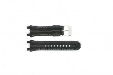 Festina cinturino orologio F16350/A Gomma Nero 23mm + cuciture grigio