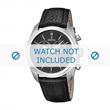 Cinturino per orologio Festina F16779-4 Pelle Nero 24mm