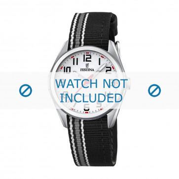 Festina cinturino dell'orologio F16904-1 Nylon / perlon Nero 16mm