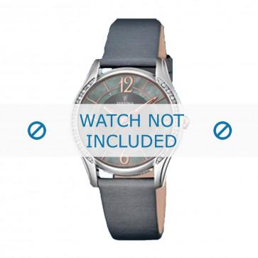 Festina cinturino dell'orologio F16944-2 Pelle Grigio 18mm
