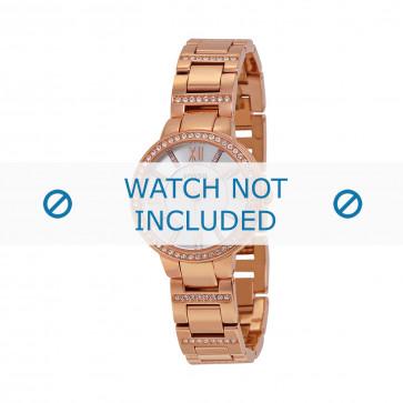 Fossil cinturino orologio ES-3284 Acciaio Oro (Rosé) 8mm