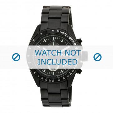 Fossil cinturino dell'orologio CH2601 Metallo Nero 22mm