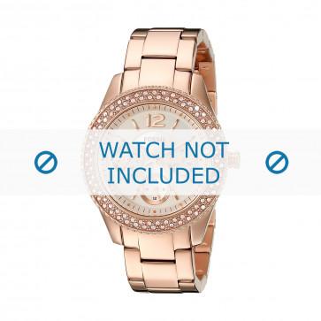 Cinturino per orologio Fossil ES3590 Acciaio Vino rosé 18mm
