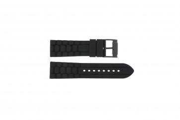 Cinturino per orologio Fossil FS4487 / FS4628 / FS4605 / JR1425 Silicone Nero 24mm