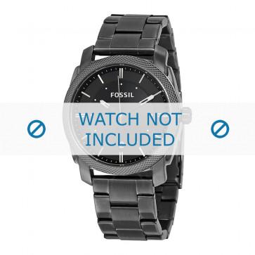 Cinturino per orologio Fossil FS4774 / PDR2095 / PDR2092 Acciaio Grigio antracite 22mm