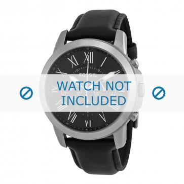 Fossil cinturino orologio FS-4812 Pelle Nero 22mm