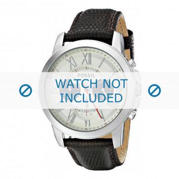 Fossil cinturino dell'orologio FS5021 Pelle Marrone + cuciture marrone