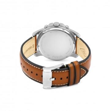 Fossil cinturino dell'orologio FS5210 Pelle Marrone 22mm + cuciture bianco