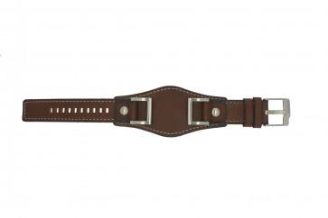 Fossil cinturino dell'orologio JR1157 Pelle Marrone 24mm + cuciture di default