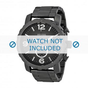 Cinturino per orologio Fossil JR1437 Acciaio Grigio 24mm