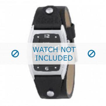 Fossil cinturino dell'orologio JR8187 Pelle Nero 20mm
