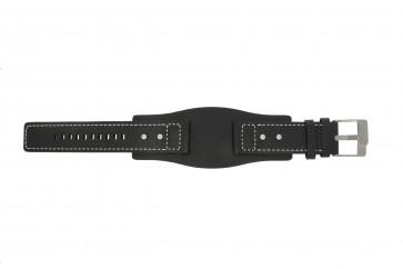 Fossil cinturino orologio JR9991 / AM3696 Pelle Nero 24mm