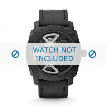 Cinturino per orologio Fossil ME1121 Pelle Nero 24mm