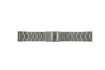 Fossil cinturino dell'orologio FS4662 / 12XXXX / 25XXXX Metallo Grigio antracite 24mm