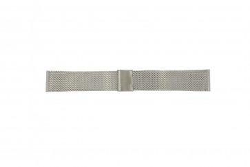 Davis cinturino dell'orologio B0810 Metallo Argento 22mm