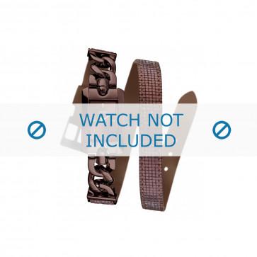 Guess cinturino dell'orologio W0053L4 Pelle Bordò