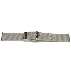 Geen merk cinturino dell'orologio YI47 Metallo Argento 24mm