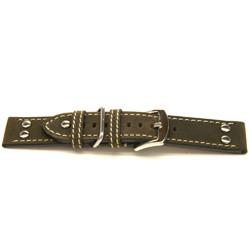 Cinturino orologio in vera pelle, marrone scuro, 22mm H393