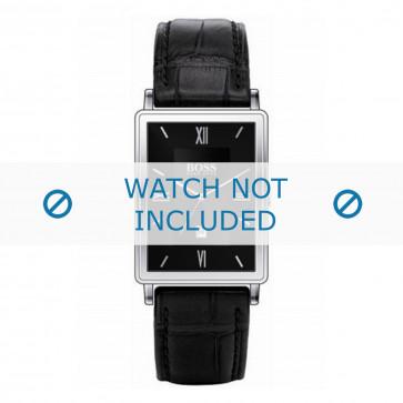 Hugo Boss cinturino dell'orologio HB-38-1-14-2060 / HB1512168 / HB1512169 / HB1512170 Pelle Nero + cuciture nero