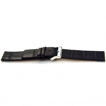 Cinturino orologio in pelle di vitello di bufalo, nero, 20mm J-53