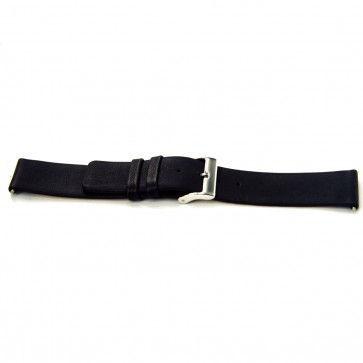 Cinturino orologio in pelle di vitello di bufalo, nero, 24mm J-53