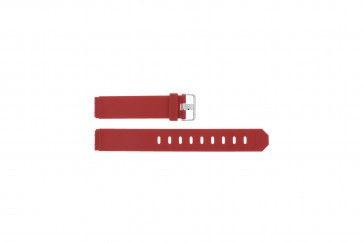 Jacob Jensen cinturino dell'orologio 700 / 751 / 756 / 761 / 766 Gomma Rosso 17mm
