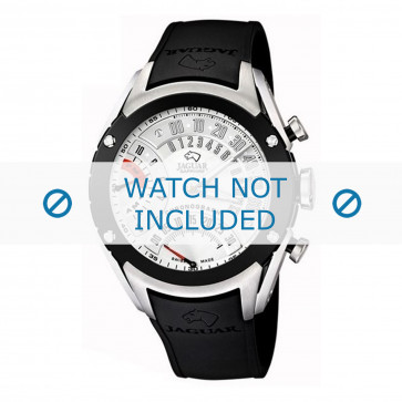 Cinturino per orologio Jaguar J659-1 Gomma Nero 20mm