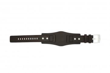 Fossil cinturino orologio JR1068 Pelle Marrone scuro 20mm